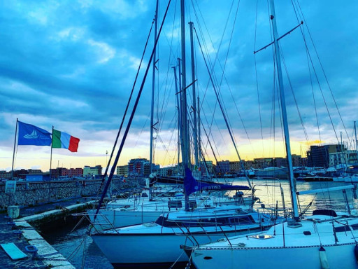 Anchorages and marinas in Lazio