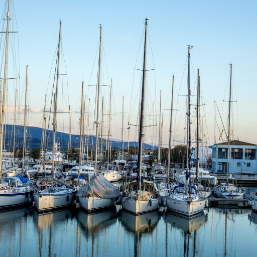 Anchorages and marinas in Lefkada